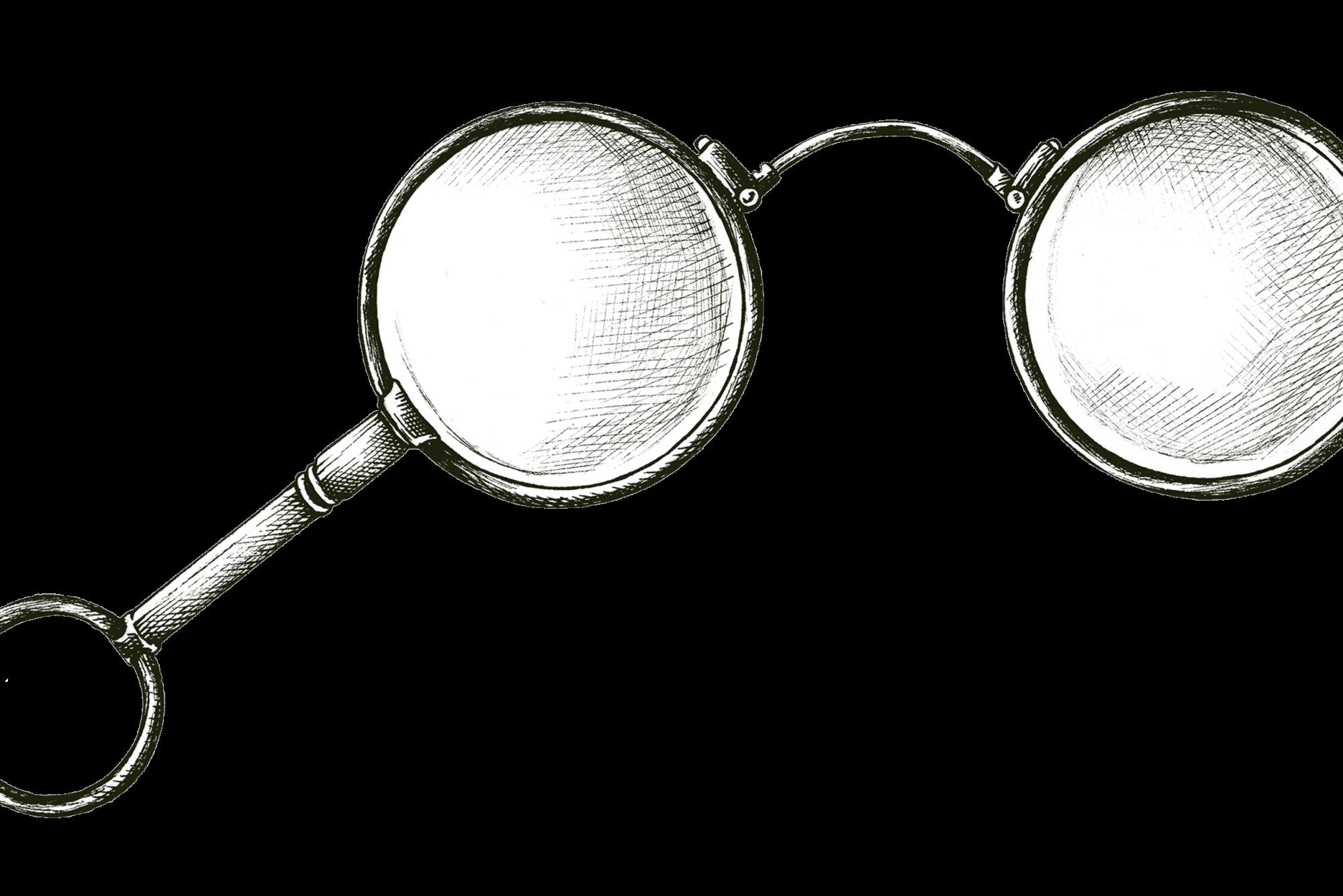 vecchio occhiale ottica monte